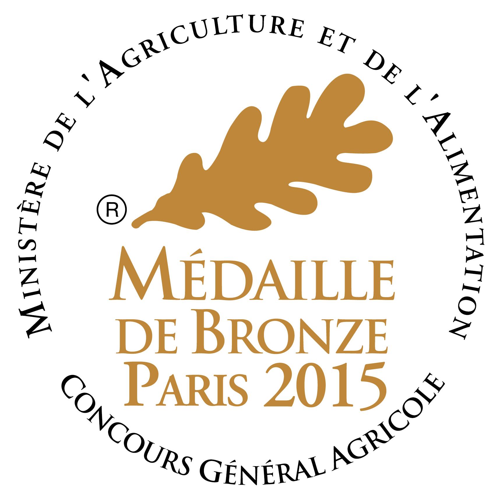 médaille bronze 2015